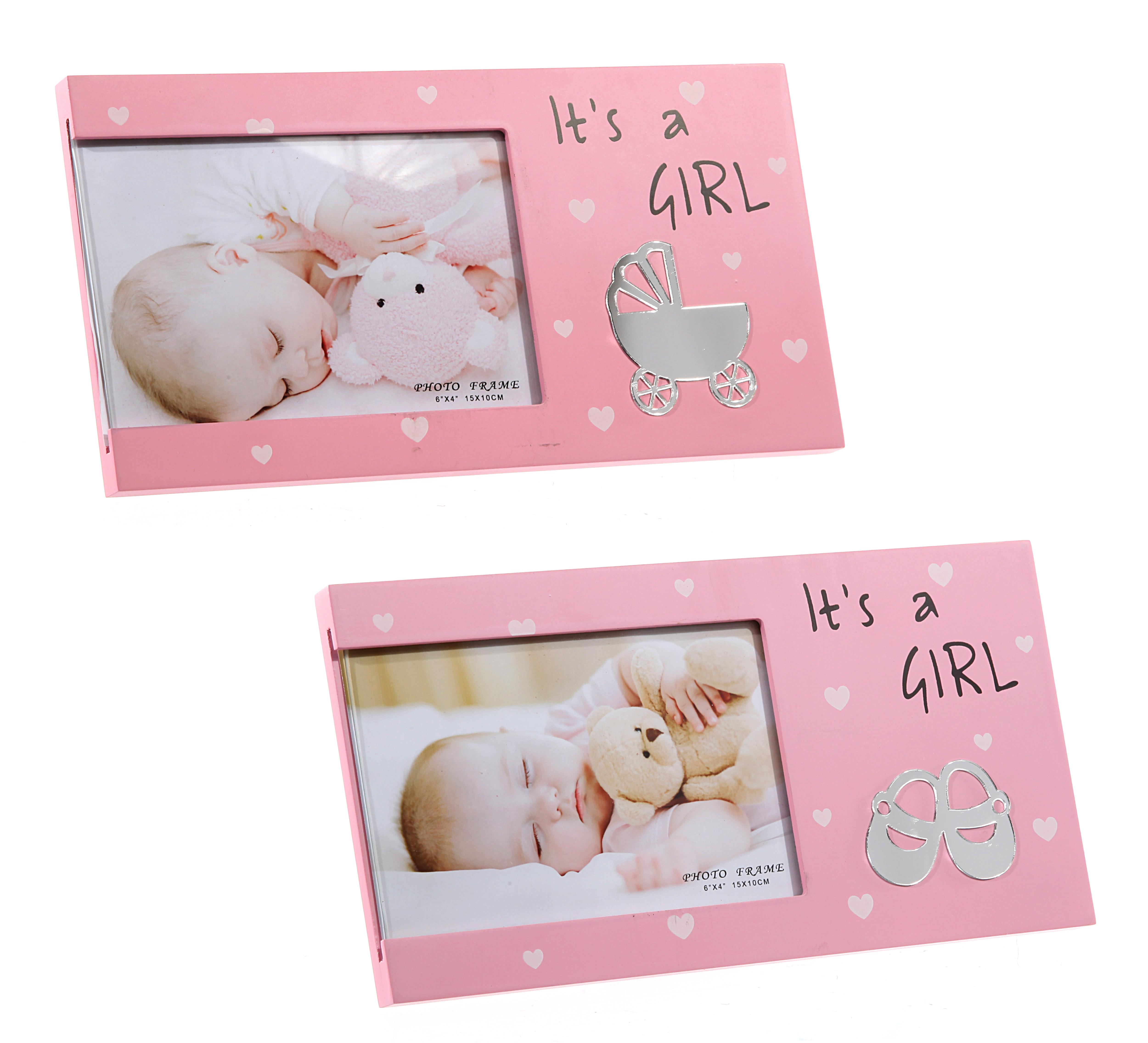 BILDERRAHMEN FOTO SPRUCH Its a Girl Geburtstag Geschenk Geburt Baby ...