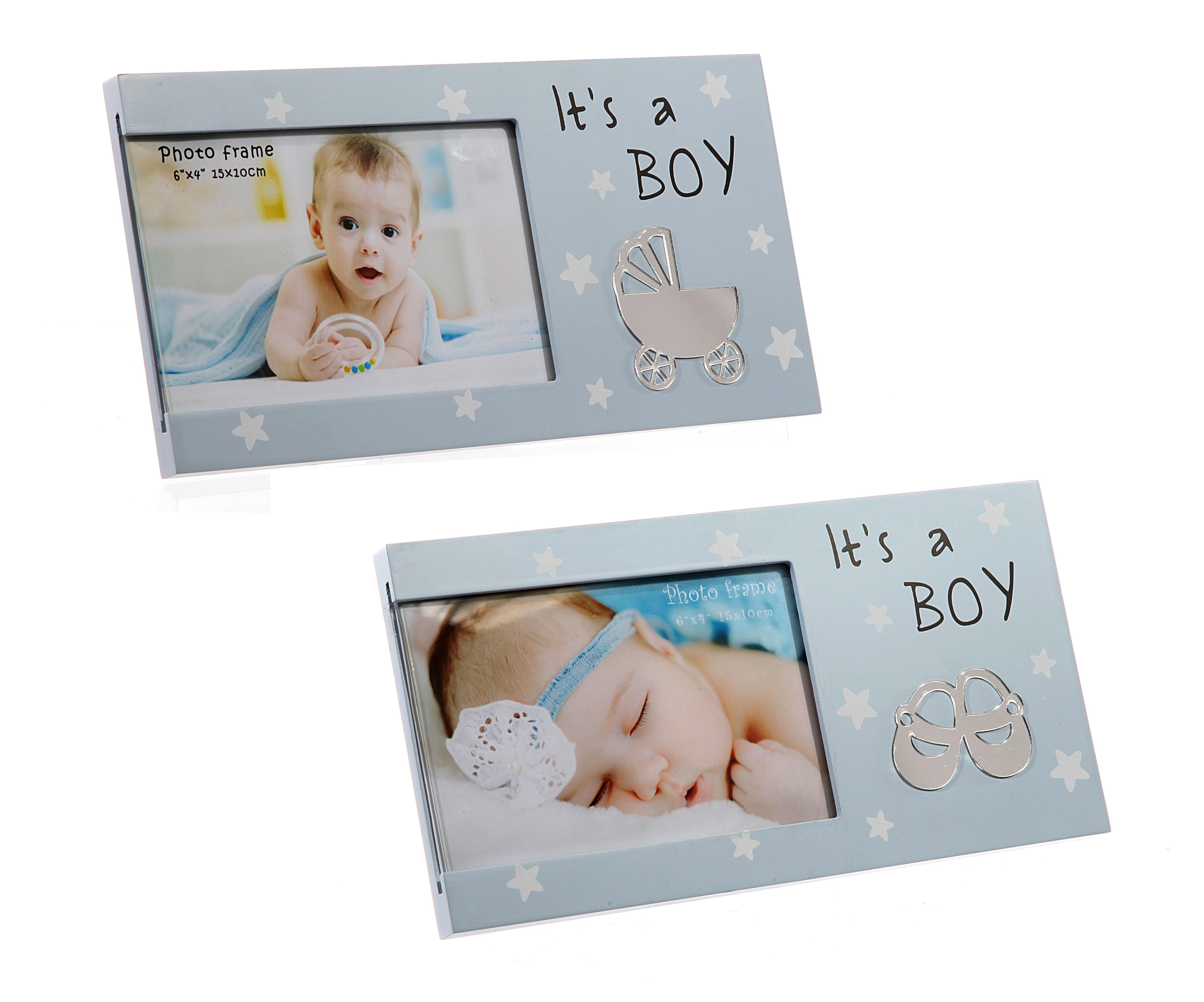BILDERRAHMEN FOTO SPRUCH Its a Boy Geburtstag Geschenk Geburt Baby ...