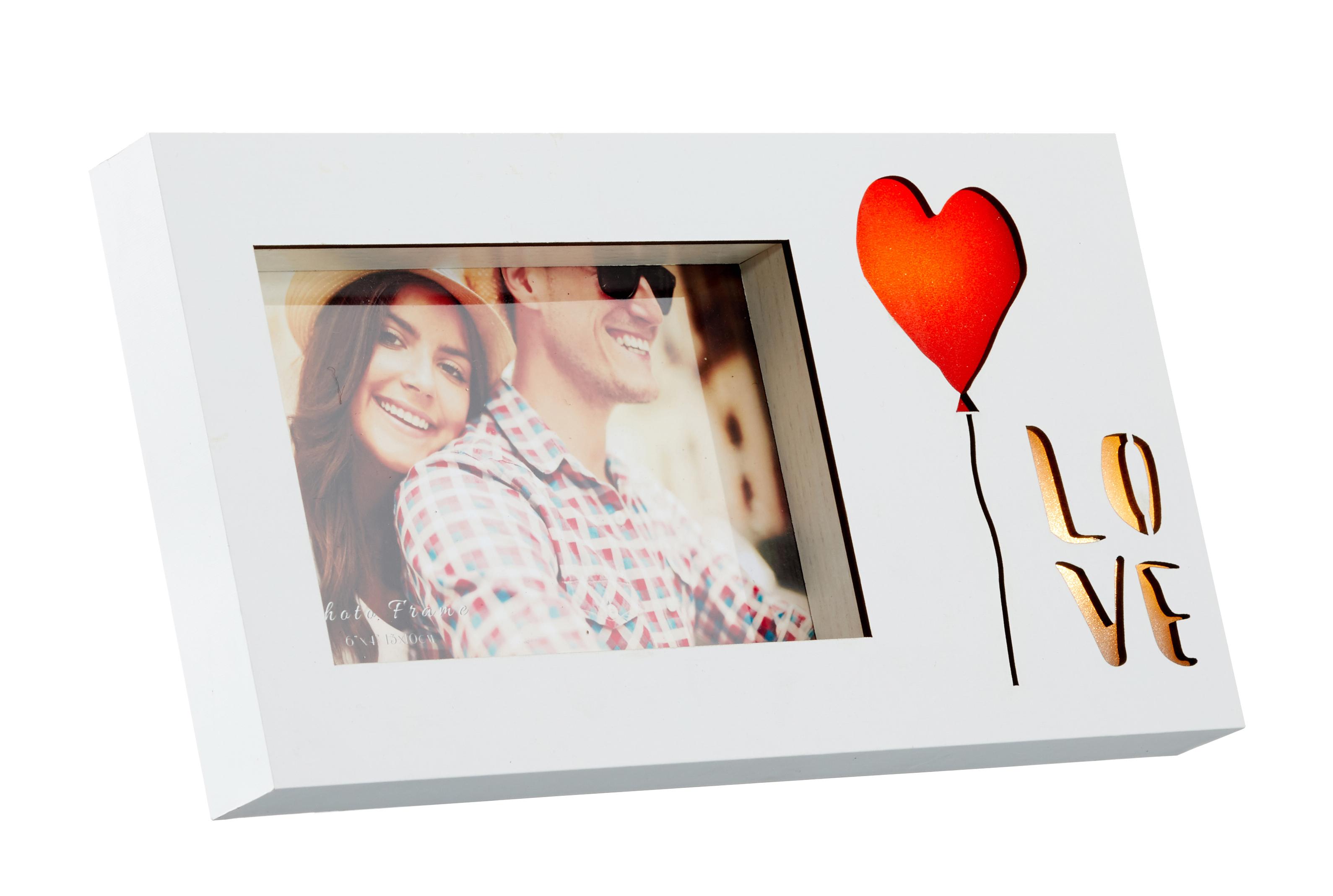 BILDERRAHMEN FOTO 10 x 15 cm Spruch LOVE LED Geschenk Hochzeit - EUR ...