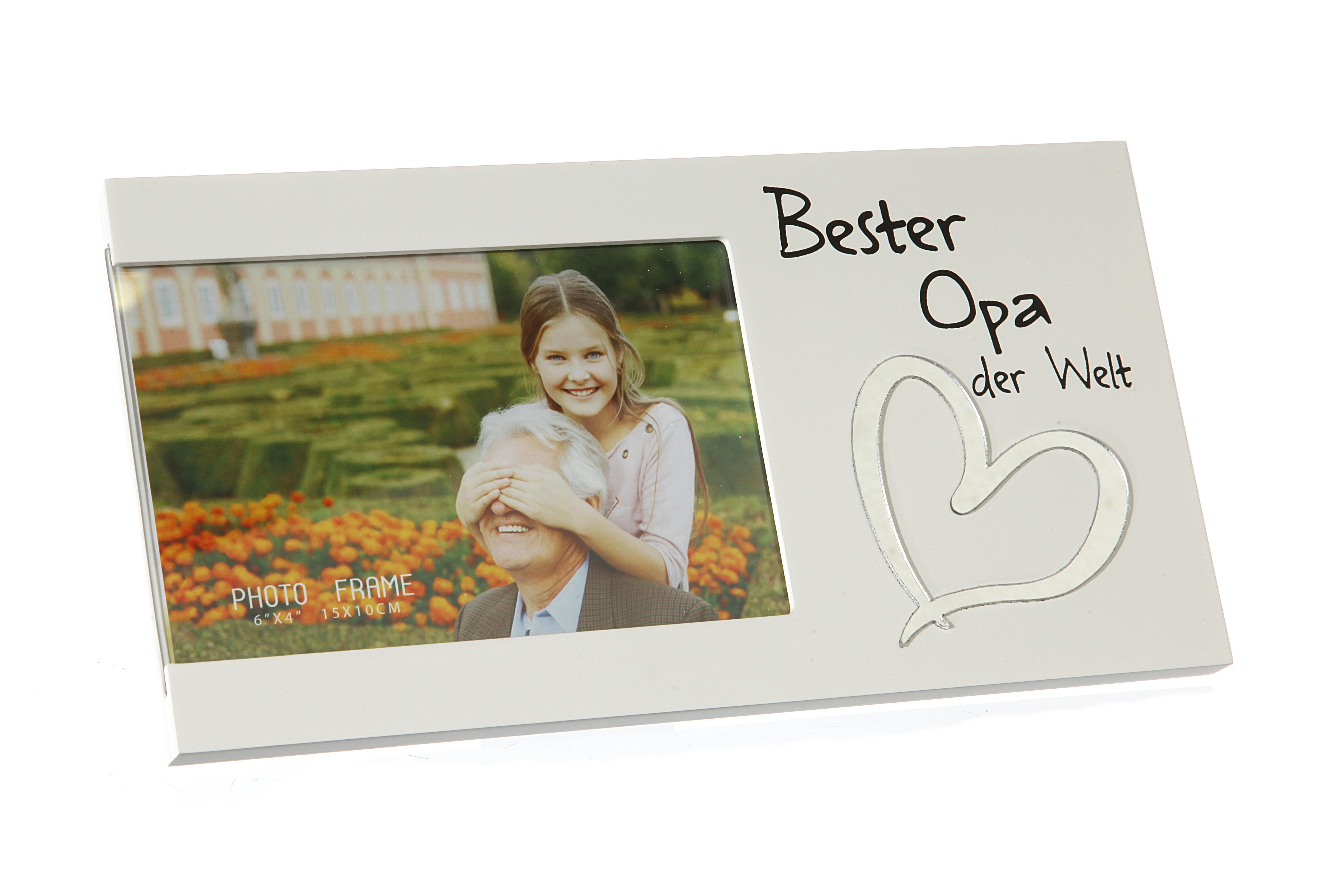 Bilderrahmen Foto Spruch Bester Opa der Welt Geschenk Grandpa | eBay