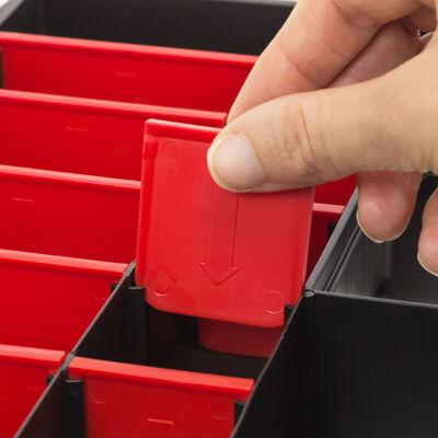 10x Allit Europlus Basic 18//9 457190 Assortiment Boîte Caisse kleinteilebox encadré