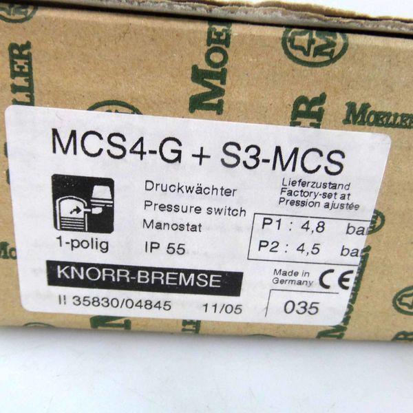 Moeller//Knorr-Bremse Druckwächter MCS4-G S3-MCS 4,8//4,5bar OVP