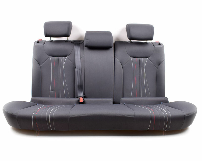 seat leon 1p - rücksitzbank rücksitze hinten + kopfstützen anthrazit