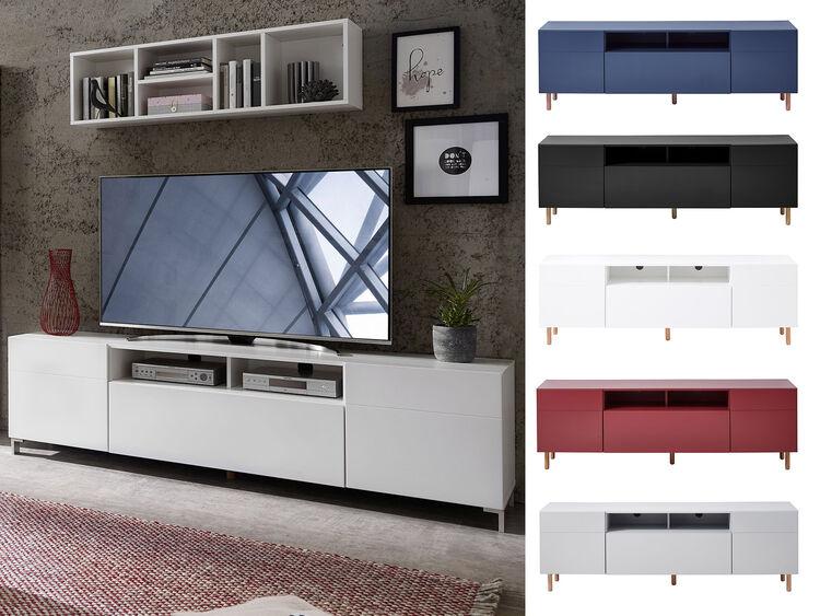 Tv Lowboard Unterschrank Fernsehtisch Hifi Element Schrank Rack
