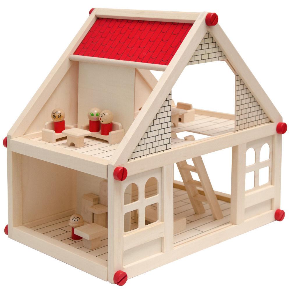 Puppenhaus-Puppen-mit-Puppenmoebel-Zubehoer-Holz-Puppenstube-Puppenkueche-Moebel