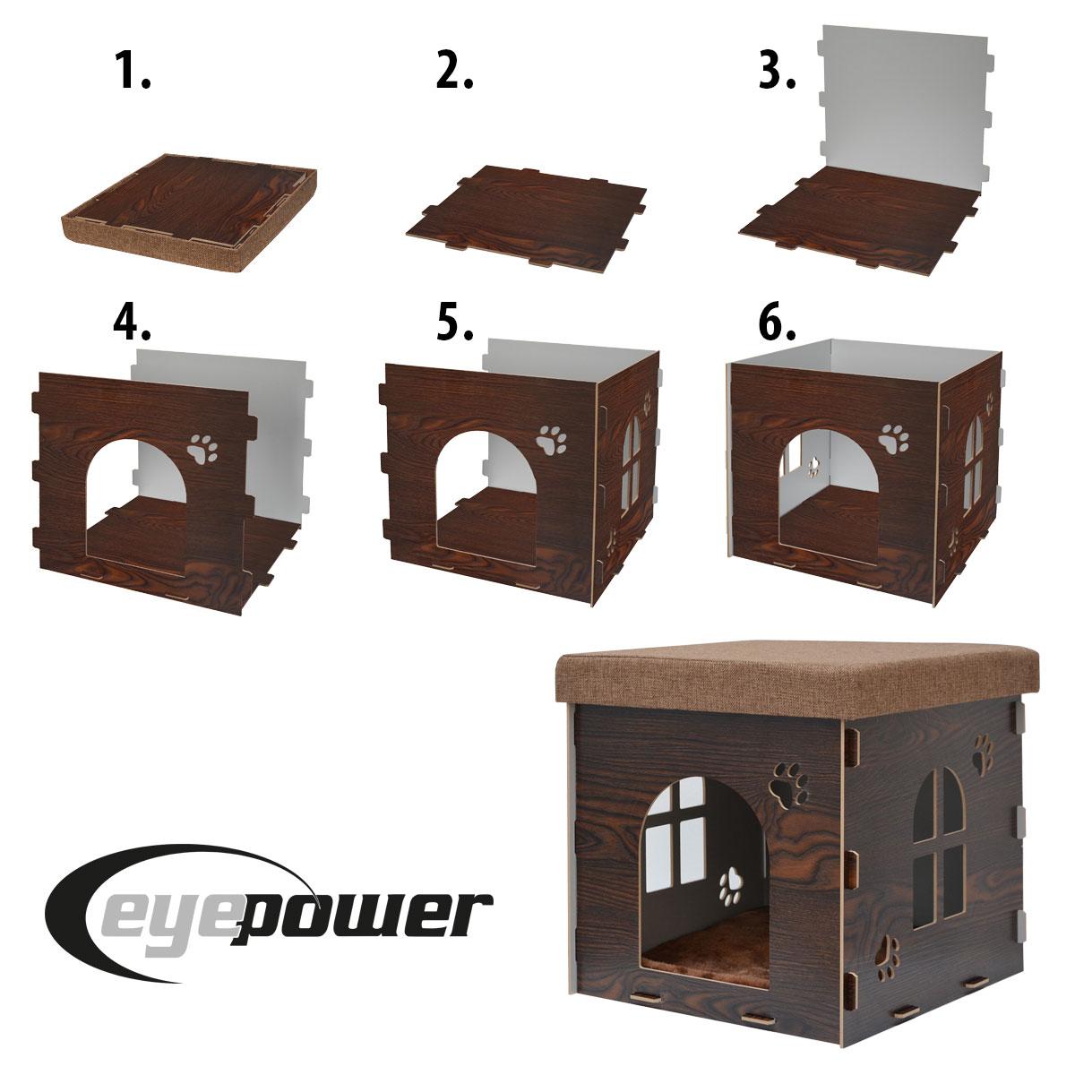 eyepower stabile katzenh hle sitzhocker sitzw rfel inkl. Black Bedroom Furniture Sets. Home Design Ideas