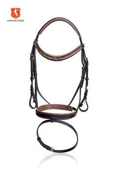 Horsecode Trense Cobra warmblut schlangenleder optik cognac unterlegt WB