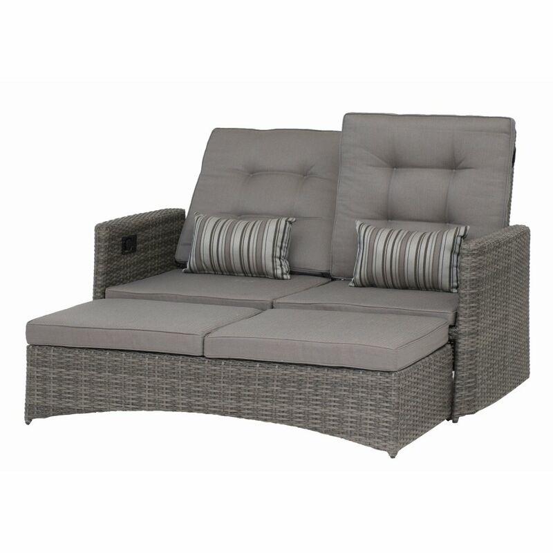 siena garden lounge sofa porto bank gartensofa daybed alu. Black Bedroom Furniture Sets. Home Design Ideas