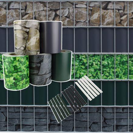 pvc sichtschutzstreifen sichtschutz zaunblende doppelstabmatten gitterzaun 35m ebay. Black Bedroom Furniture Sets. Home Design Ideas