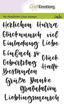 Stempel Worter Verschieden Handlettering A6 Craftemotions Dank