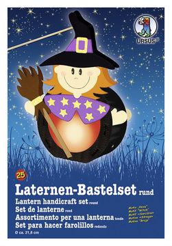 Hexen Laterne rund 22 cm Lampion Hexenlaterne Sankt Martin Deko
