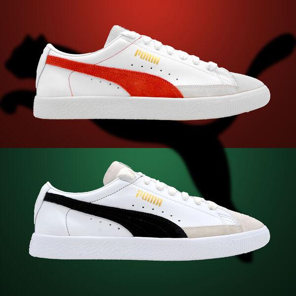 save off e1e94 81ffa Details about Puma Basket 90680 365944-01 365944-02 New Leather Shoes