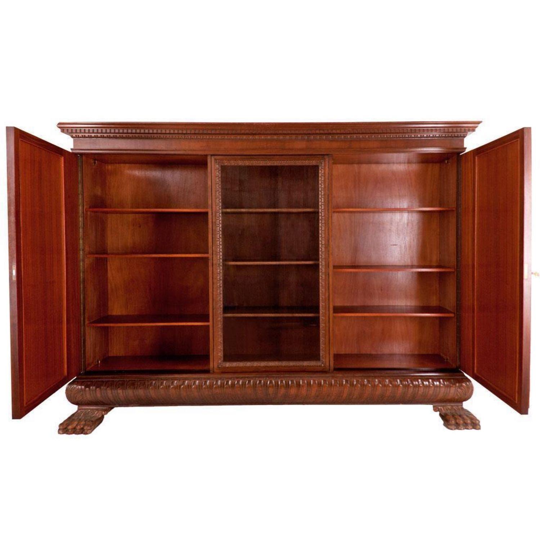 Bücherschrank  Wohnzimmerschrank  10er Jahre mit Löwentatzen  eBay