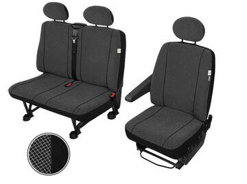 Sitzbezüge Schonbezüge SET EE Nissan NV400 2010 Stoff dunkel grau