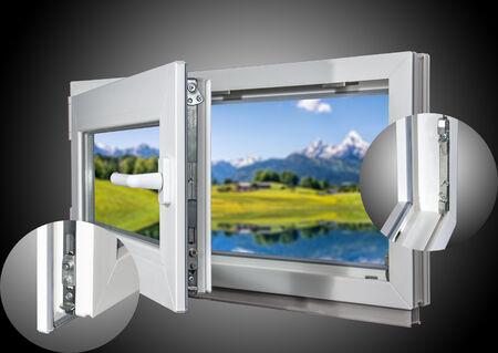 60 mm Profil Kellerfenster BxH: 120 x 90 cm DIN Links 2 fach Verglasung 1200 x 900 mm innen wei/ß//au/ßen anthrazit Dreh- /& Kippfunktion Fenster