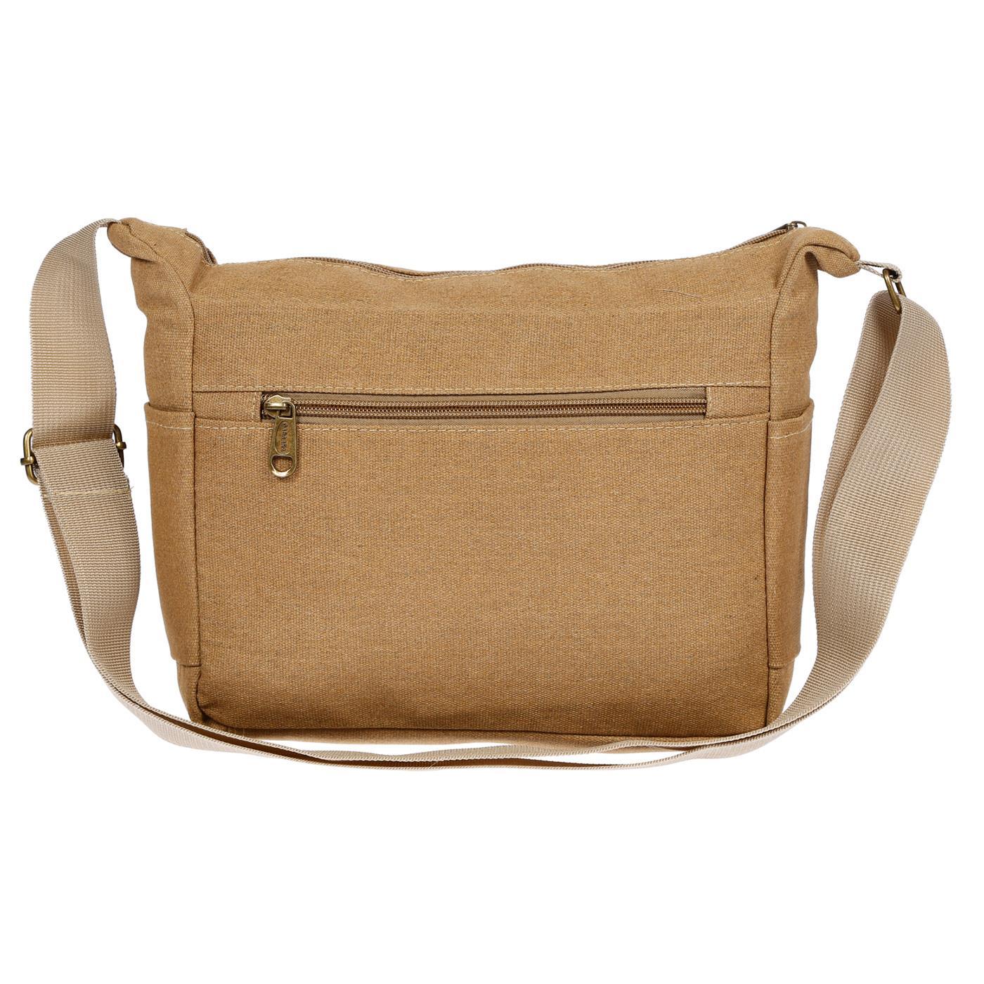 Damen-Tasche-Canvas-Umhaengetasche-Schultertasche-Crossover-Bag-Damenhandtasche Indexbild 46