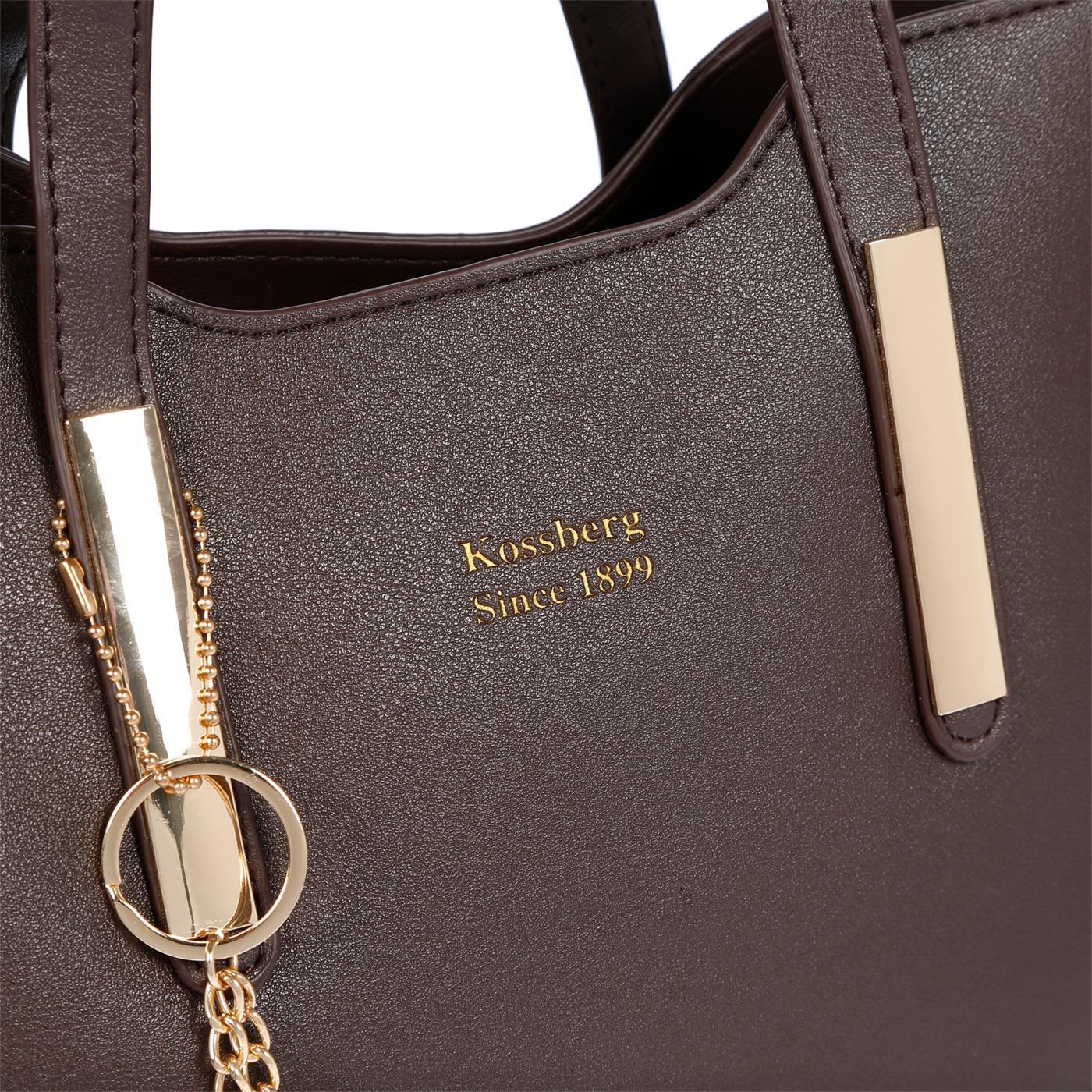 Kossberg-Damen-Tasche-Henkeltasche-Schultertasche-Umhaengetasche-Leder-Optik-Bag Indexbild 44