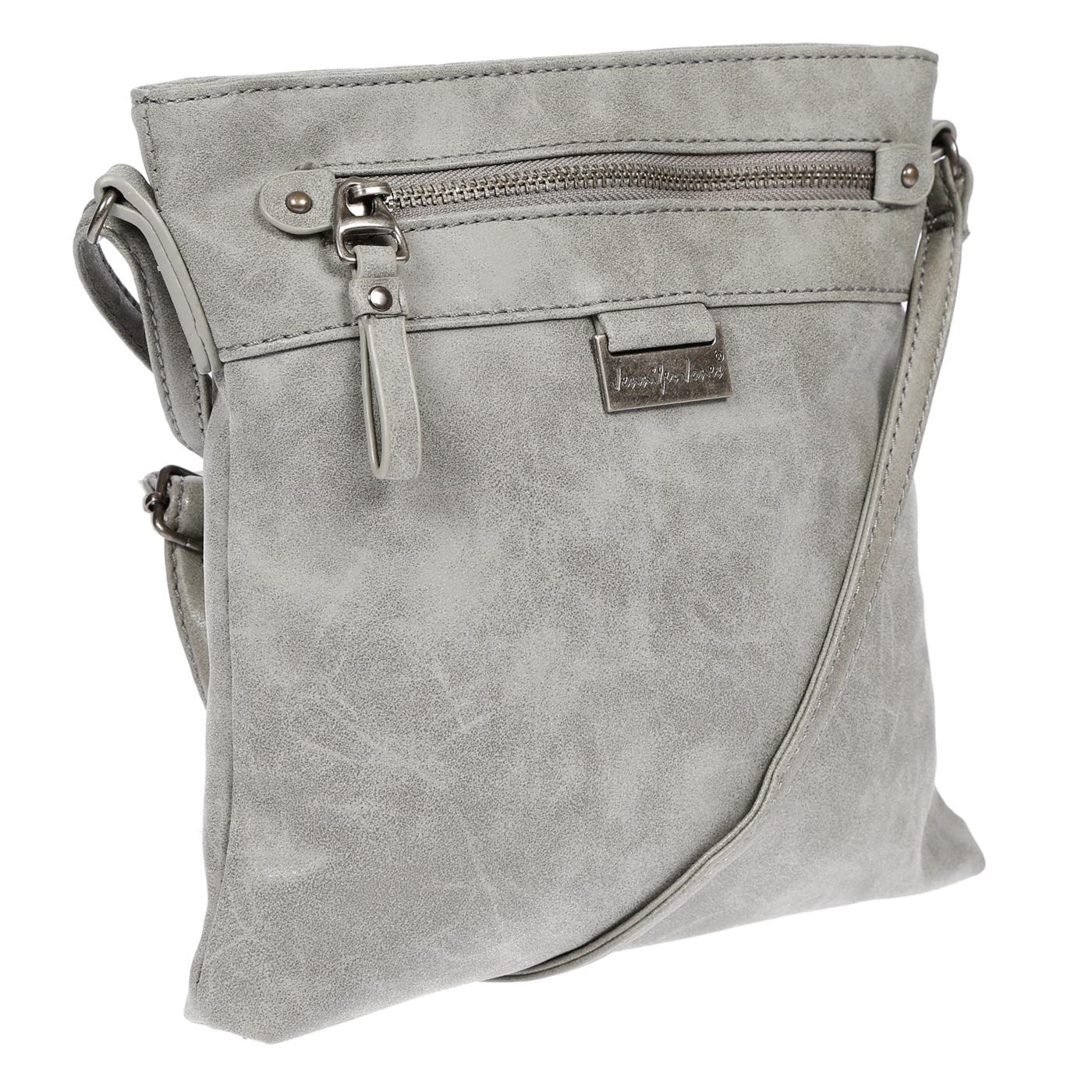 Damen-Handtasche-Umhaengetasche-Schultertasche-Tasche-Leder-Optik-Schwarz-Weiss Indexbild 38