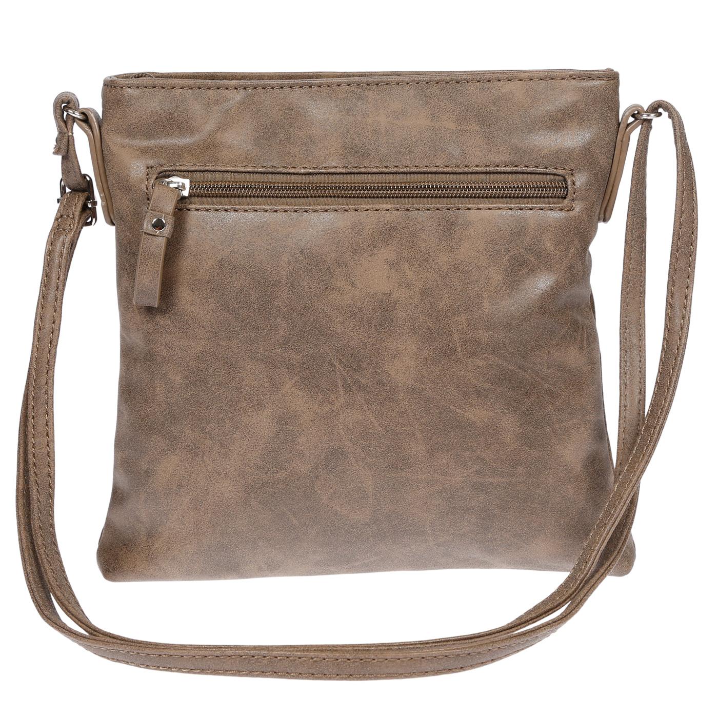Damen-Handtasche-Umhaengetasche-Schultertasche-Tasche-Leder-Optik-Schwarz-Weiss Indexbild 19