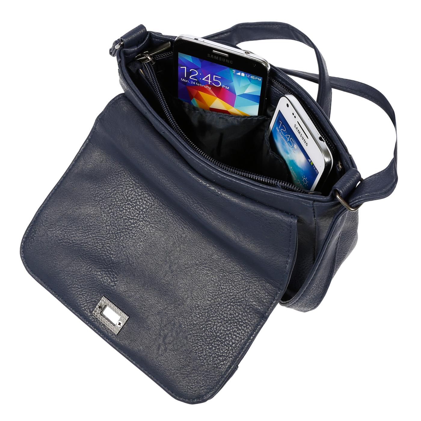 Kleine-Damen-Tasche-Umhaengetasche-Schultertasche-Crossover-Bag-Leder-Optik-NEU Indexbild 42