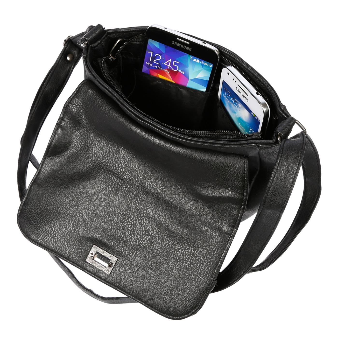 Kleine-Damen-Tasche-Umhaengetasche-Schultertasche-Crossover-Bag-Leder-Optik-NEU Indexbild 18