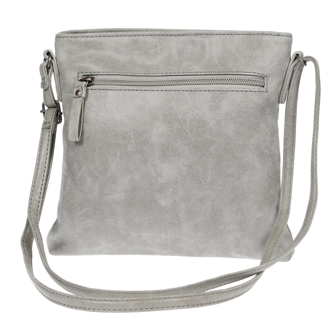 Damen-Handtasche-Umhaengetasche-Schultertasche-Tasche-Leder-Optik-Schwarz-Weiss Indexbild 40