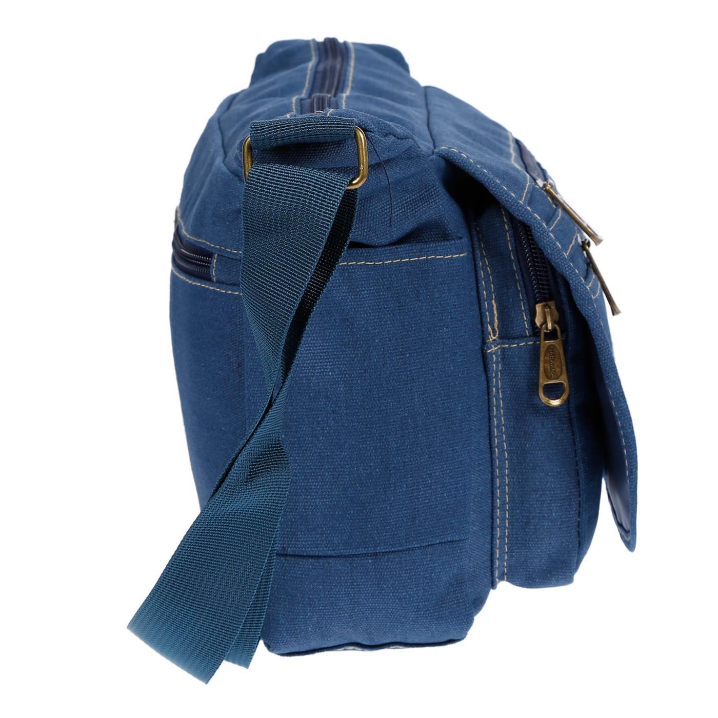 Damen-Tasche-Canvas-Umhaengetasche-Schultertasche-Crossover-Bag-Damenhandtasche Indexbild 21