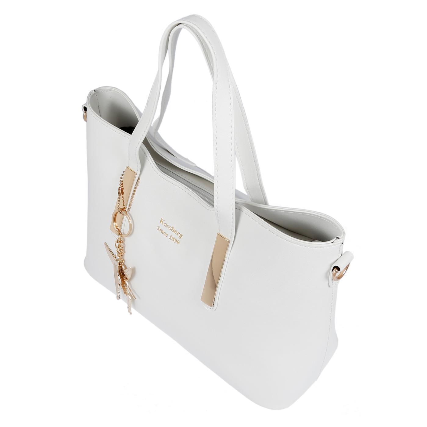 Kossberg-Damen-Tasche-Henkeltasche-Schultertasche-Umhaengetasche-Leder-Optik-Bag Indexbild 31