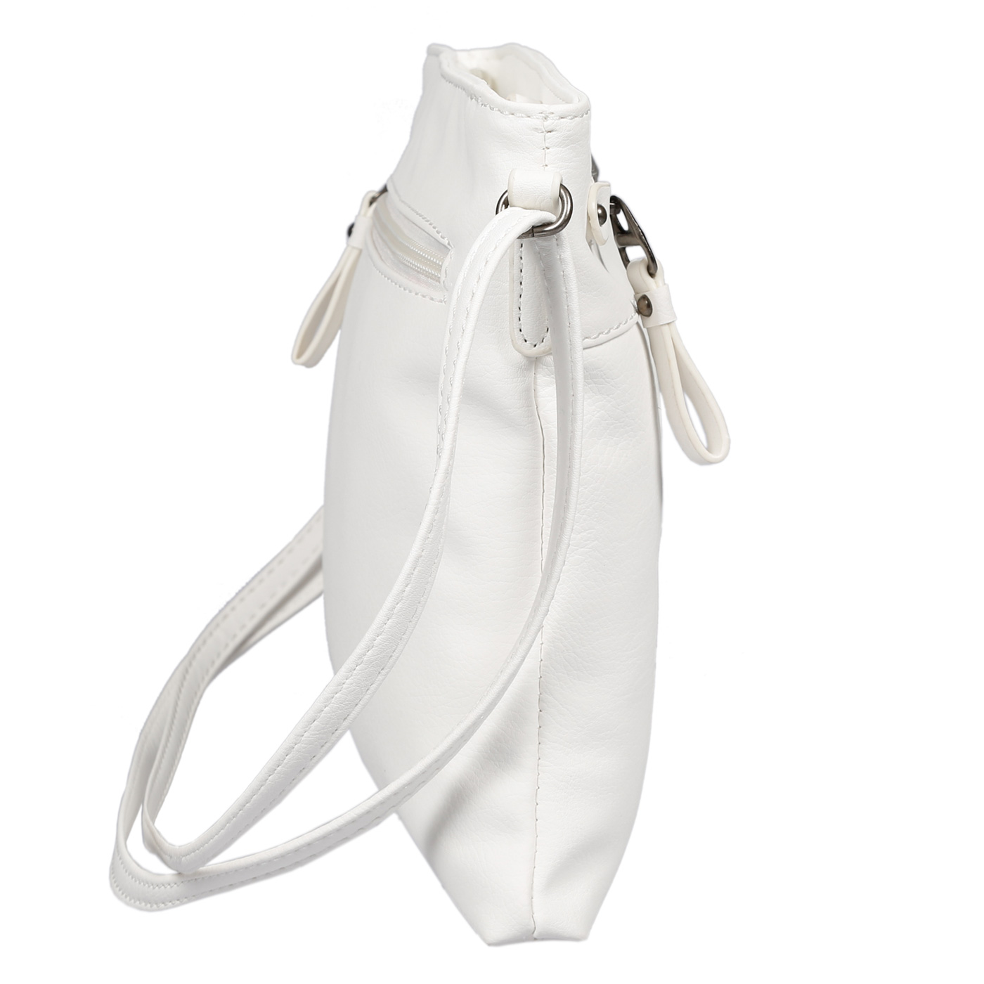 Damen-Handtasche-Umhaengetasche-Schultertasche-Tasche-Leder-Optik-Schwarz-Weiss Indexbild 53