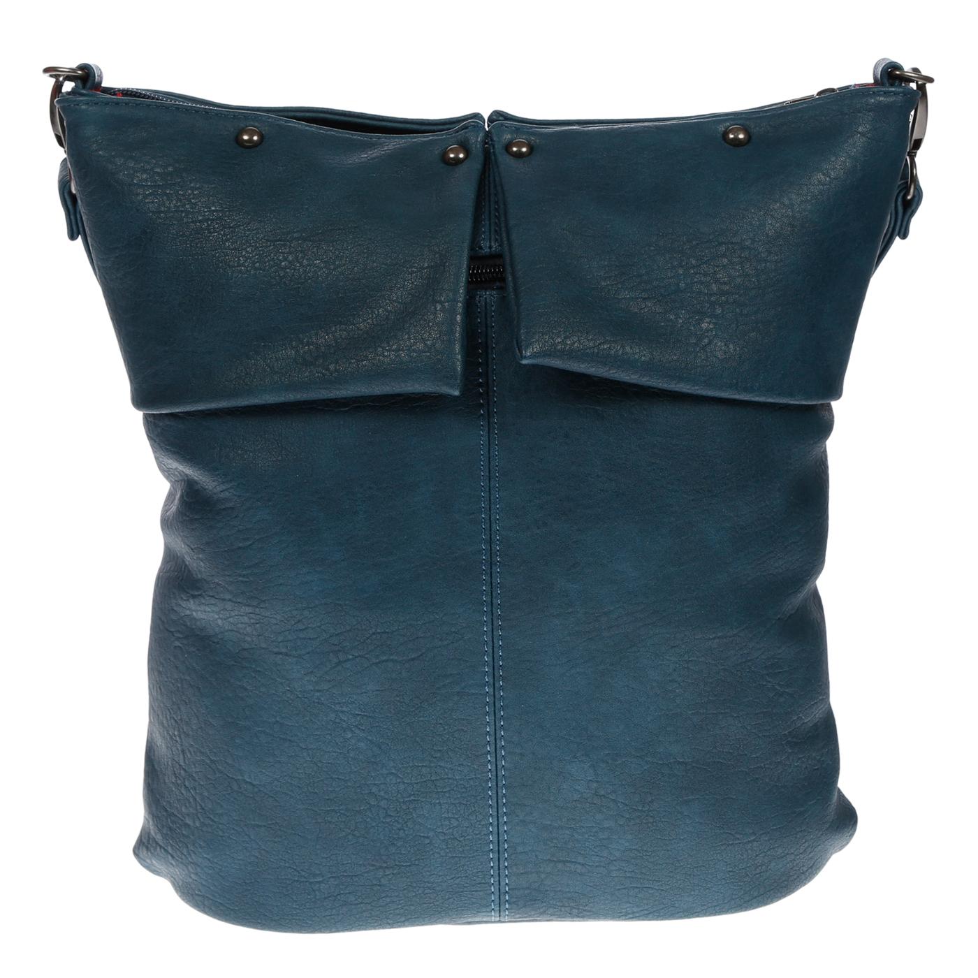 Damentasche-Umhaengetasche-Handtasche-Schultertasche-Leder-Optik-Tasche-Schwarz Indexbild 15