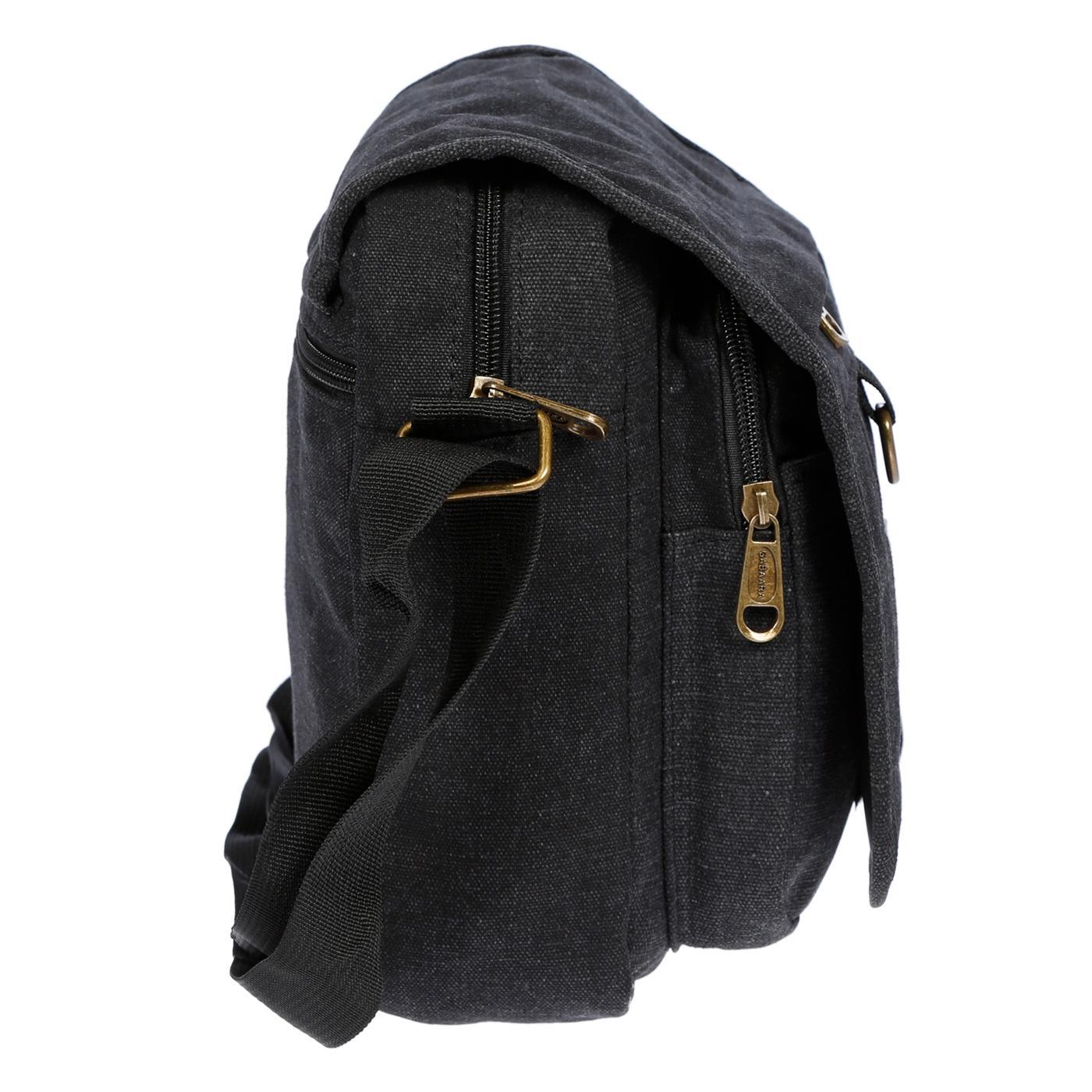 Damen-Herren-Tasche-Canvas-Umhaengetasche-Schultertasche-Crossover-Bag-Handtasche Indexbild 13