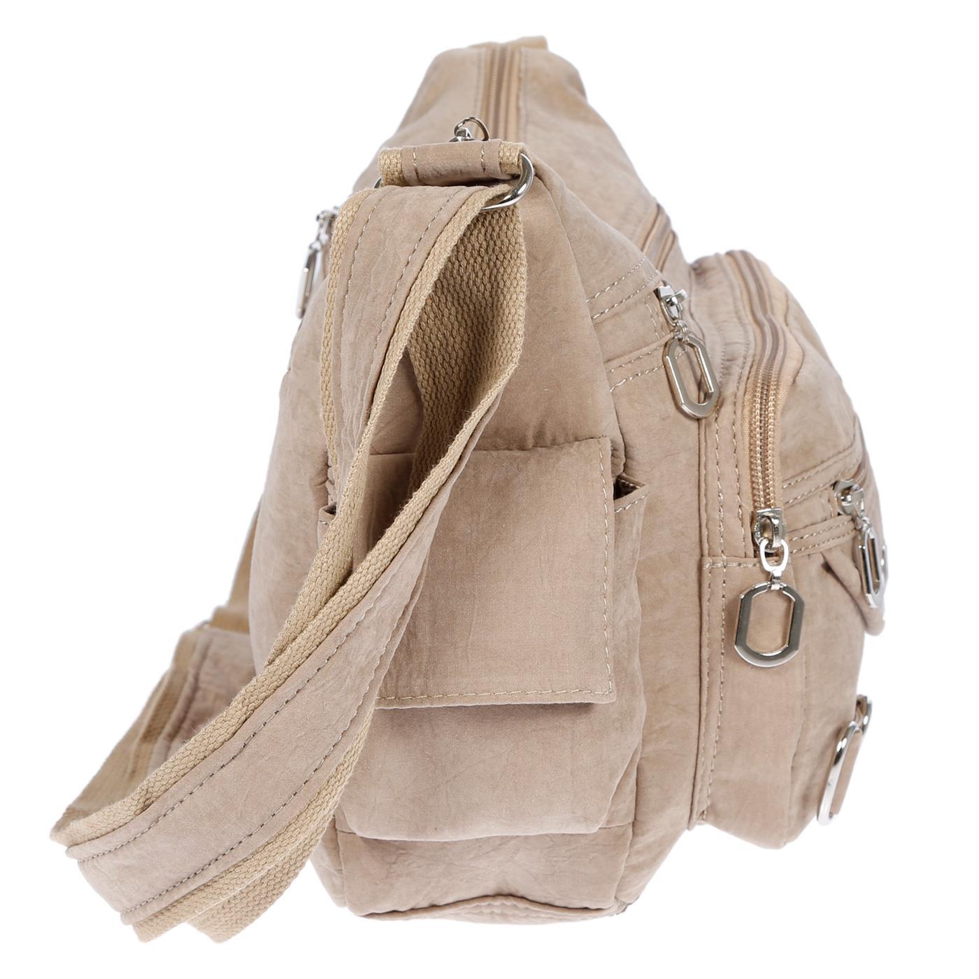 Damenhandtasche-Schultertasche-Tasche-Umhaengetasche-Canvas-Shopper-Crossover-Bag Indexbild 33