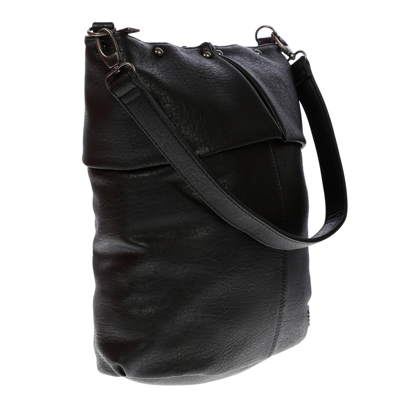 Damentasche-Umhaengetasche-Handtasche-Schultertasche-Leder-Optik-Tasche-Schwarz Indexbild 7