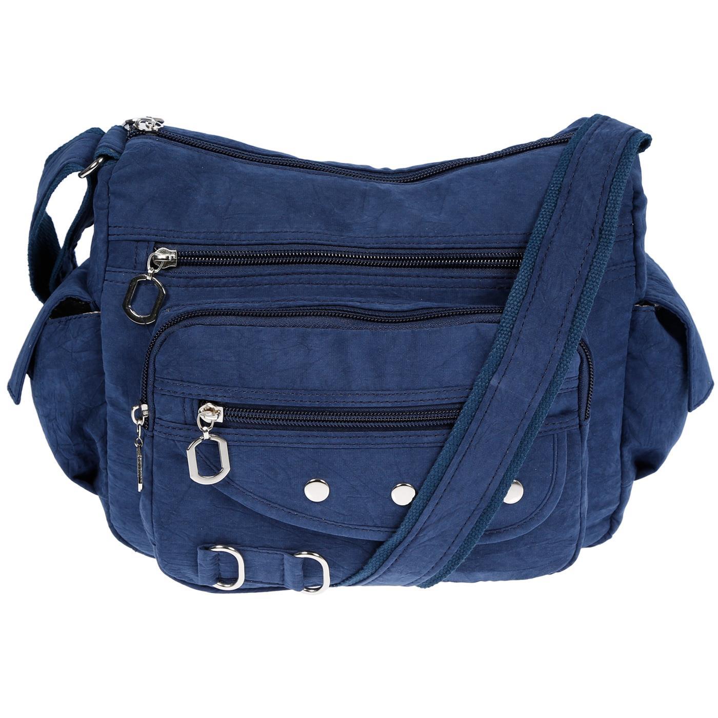 Damenhandtasche-Schultertasche-Tasche-Umhaengetasche-Canvas-Shopper-Crossover-Bag Indexbild 10