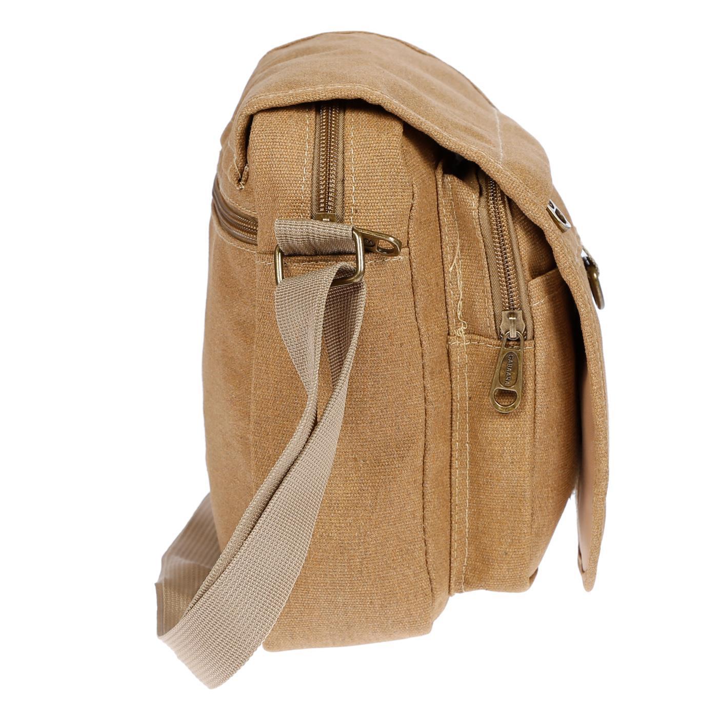 Damen-Herren-Tasche-Canvas-Umhaengetasche-Schultertasche-Crossover-Bag-Handtasche Indexbild 28