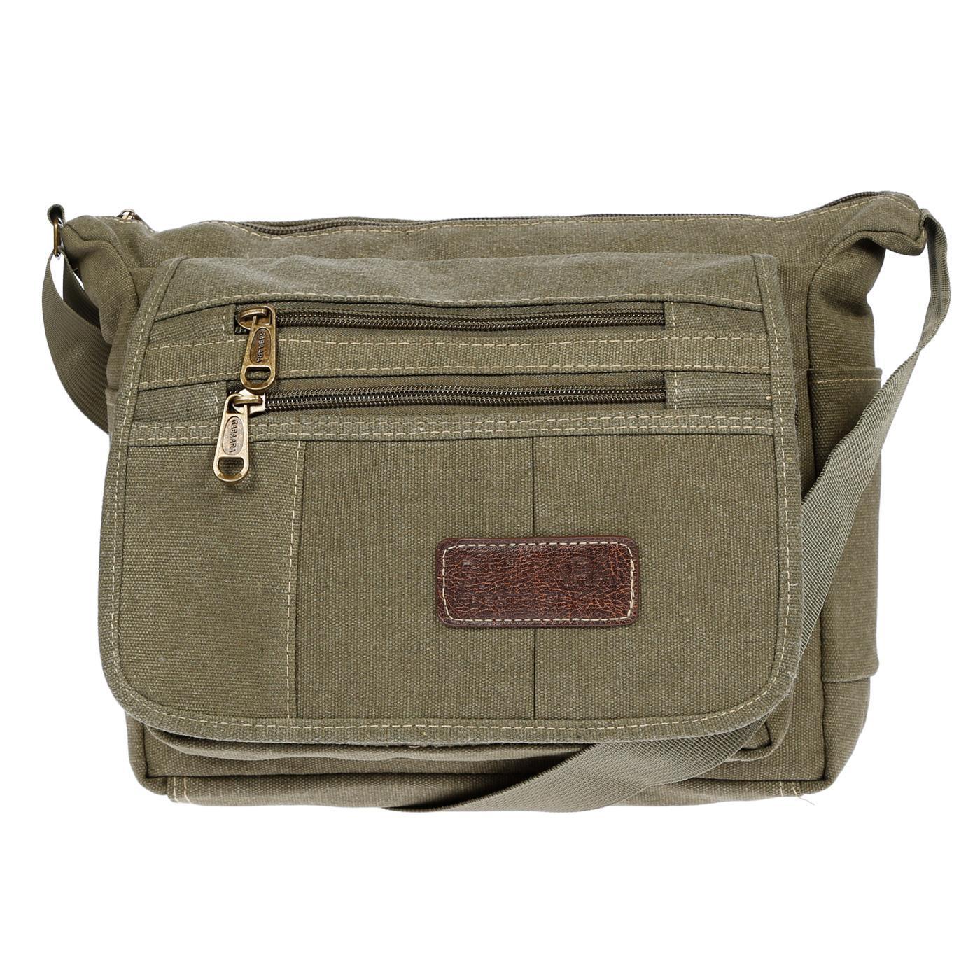 Damen-Tasche-Canvas-Umhaengetasche-Schultertasche-Crossover-Bag-Damenhandtasche Indexbild 38