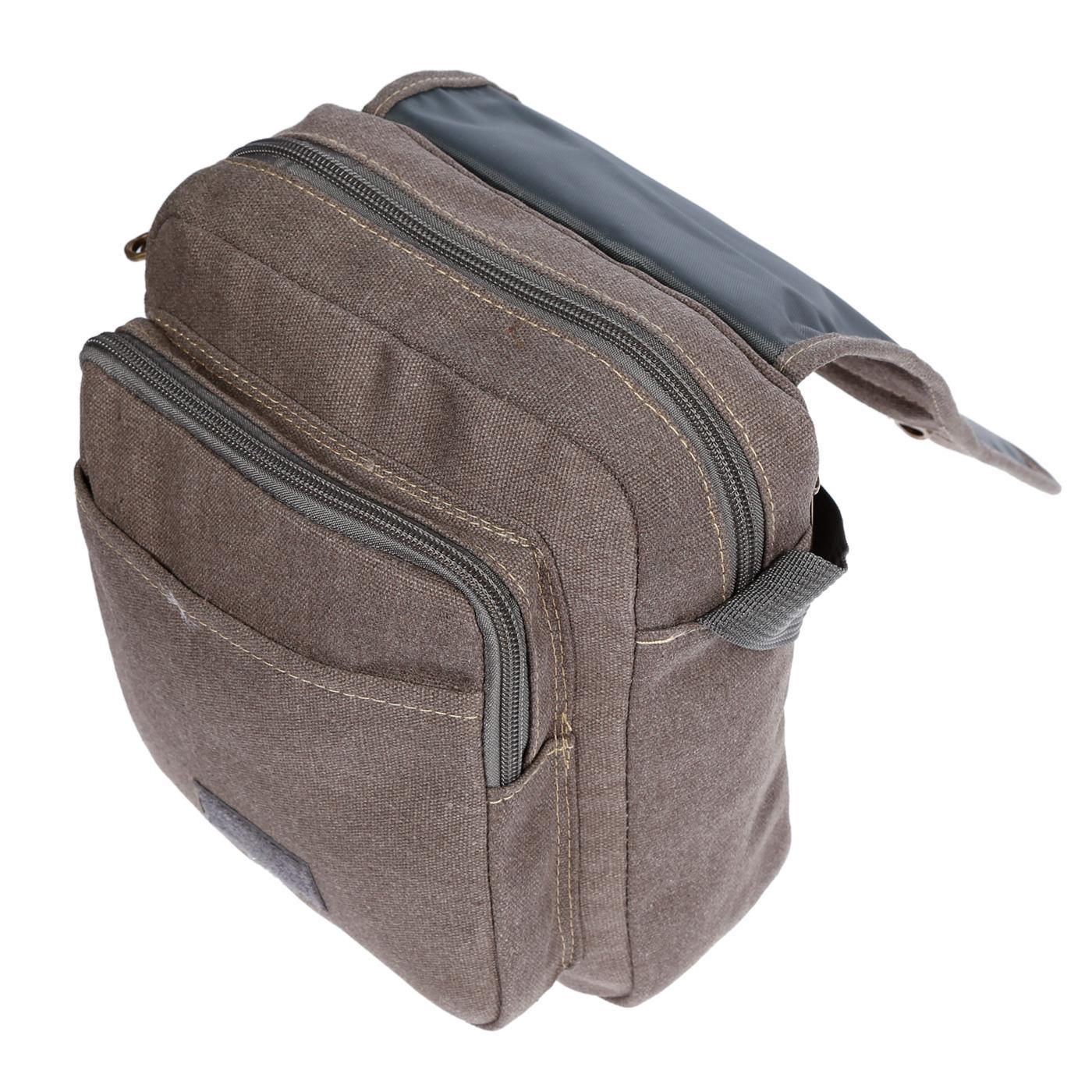 Damen-Herren-Tasche-Canvas-Umhaengetasche-Schultertasche-Crossover-Bag-Handtasche Indexbild 18
