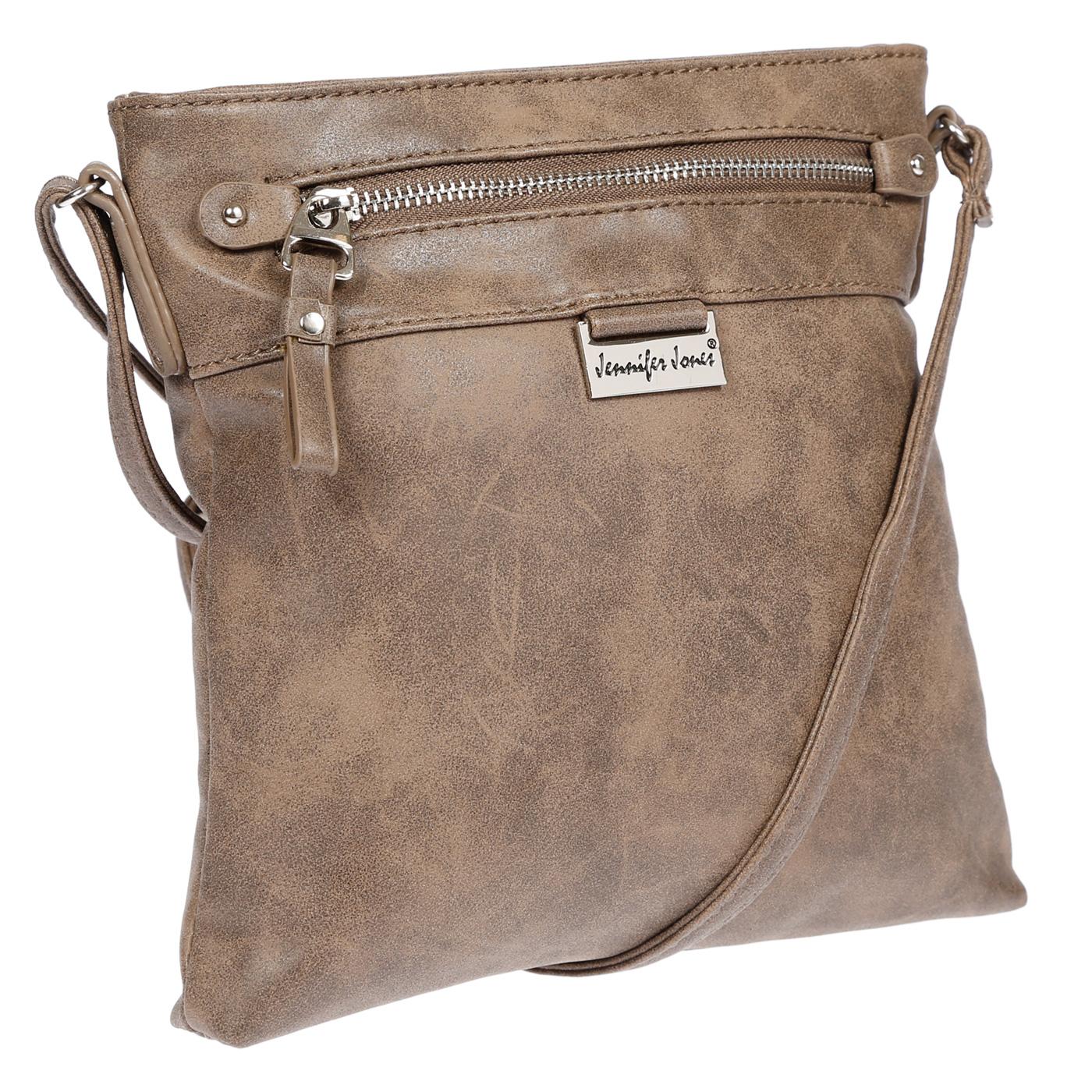 Damen-Handtasche-Umhaengetasche-Schultertasche-Tasche-Leder-Optik-Schwarz-Weiss Indexbild 17