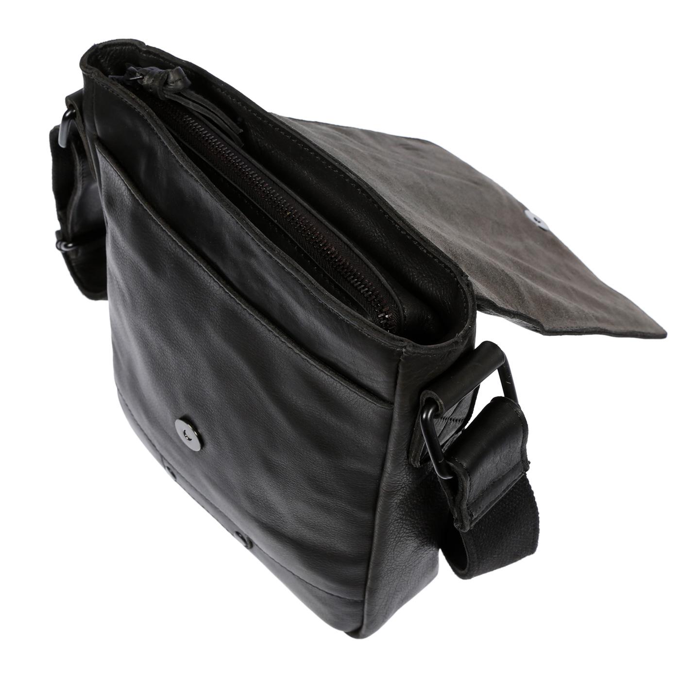 Echt-Leder-Herren-Damen-Umhaengetasche-Tasche-RFID-Schutz-Schultertasche-Umhaenger Indexbild 22