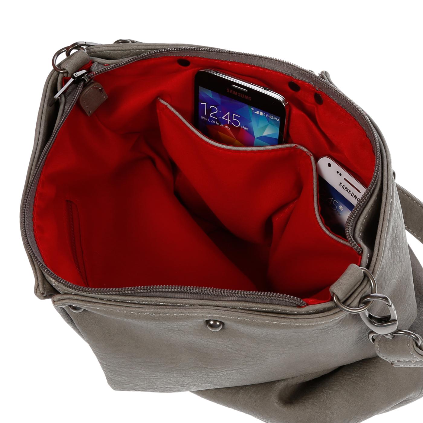 Damentasche-Umhaengetasche-Handtasche-Schultertasche-Leder-Optik-Tasche-Schwarz Indexbild 23