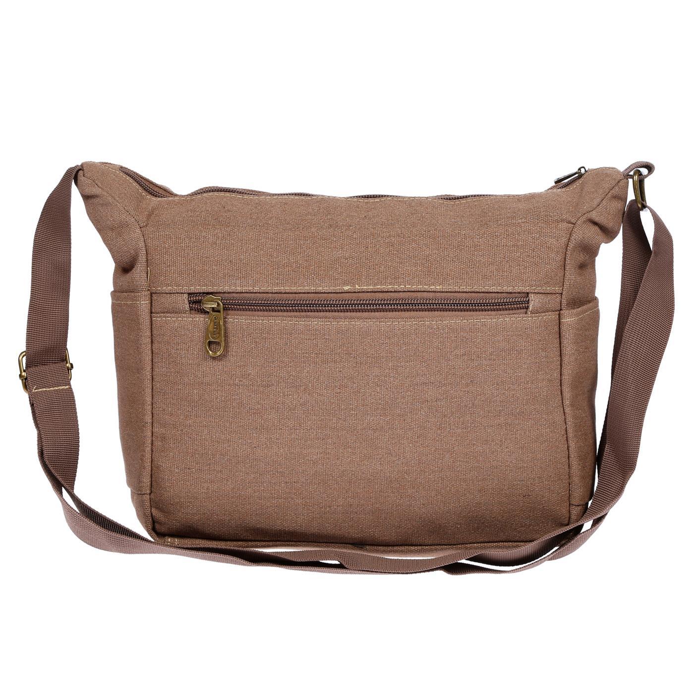 Damen-Tasche-Canvas-Umhaengetasche-Schultertasche-Crossover-Bag-Damenhandtasche Indexbild 28