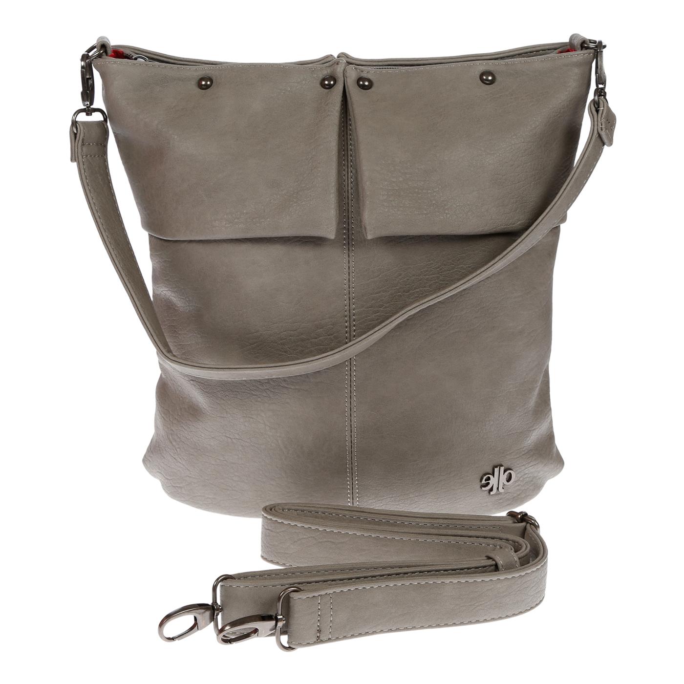 Damentasche-Umhaengetasche-Handtasche-Schultertasche-Leder-Optik-Tasche-Schwarz Indexbild 20