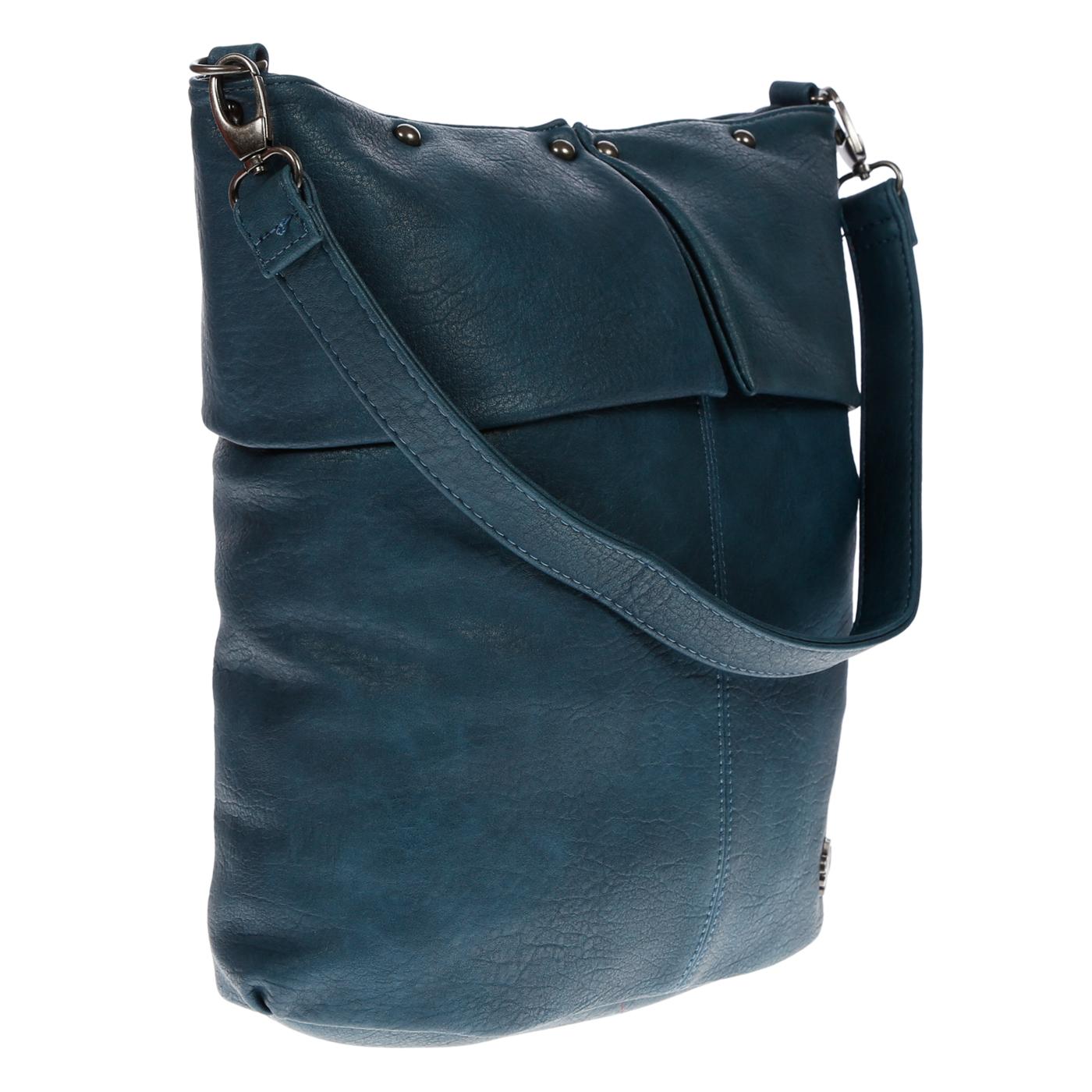 Damentasche-Umhaengetasche-Handtasche-Schultertasche-Leder-Optik-Tasche-Schwarz Indexbild 13