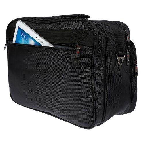 Leder Arbeitstasche Flugbegleiter Tasche Umhängetasche Schwarz Messenger Uni NEU