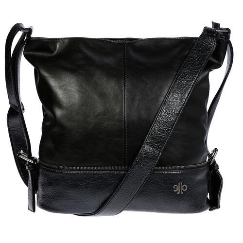 XL Damen Handtasche Shopper Umhängetasche Schultertasche Leder Optik Schwarz NEU