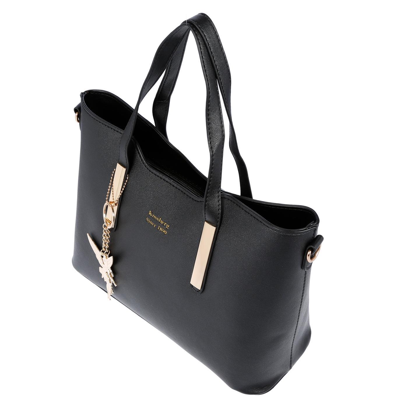 Kossberg-Damen-Tasche-Henkeltasche-Schultertasche-Umhaengetasche-Leder-Optik-Bag Indexbild 21