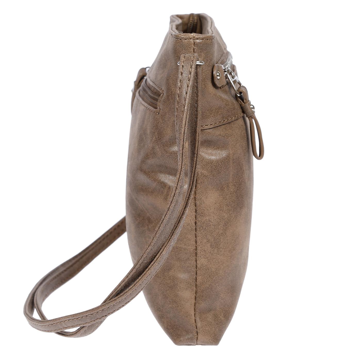 Damen-Handtasche-Umhaengetasche-Schultertasche-Tasche-Leder-Optik-Schwarz-Weiss Indexbild 18