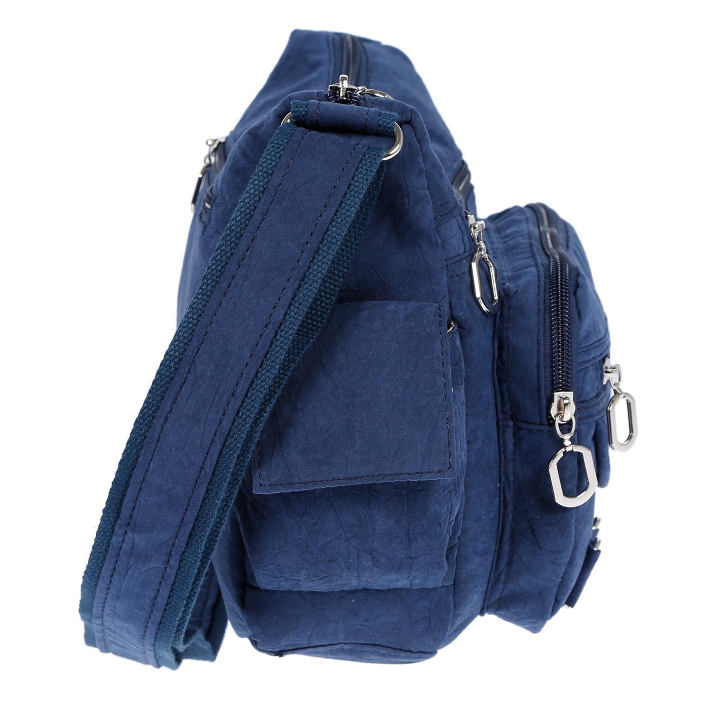 Damenhandtasche-Schultertasche-Tasche-Umhaengetasche-Canvas-Shopper-Crossover-Bag Indexbild 11