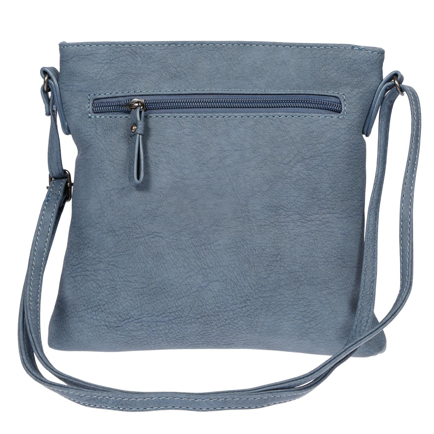 Damen-Handtasche-Umhaengetasche-Schultertasche-Tasche-Leder-Optik-Schwarz-Weiss Indexbild 47