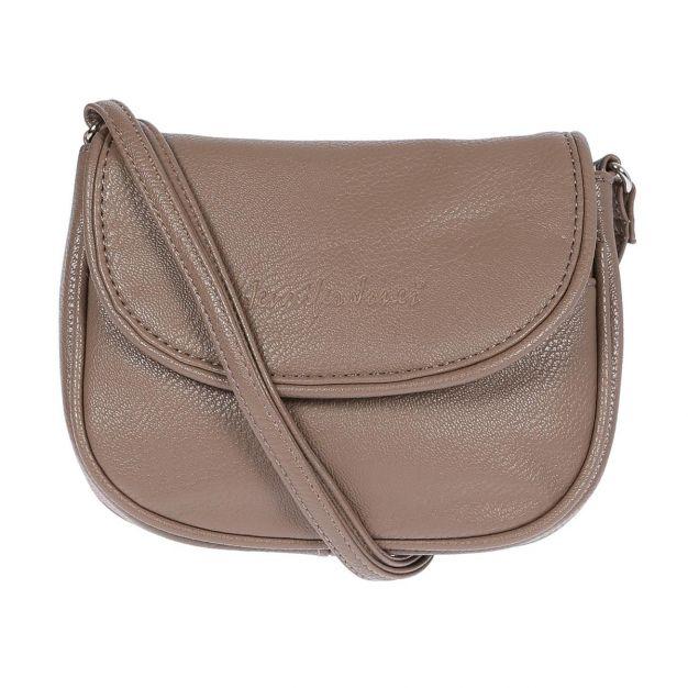 Kleine süsse Damen Tasche Handtasche Schultertasche Umhängetasche Taupe City NEU